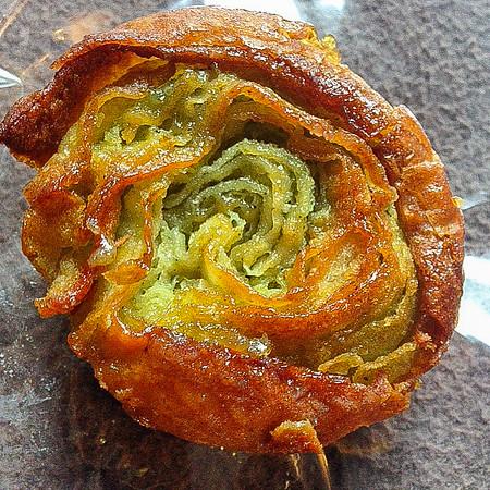Mini kouign amann à la pistache from George Larnicol (dinner)